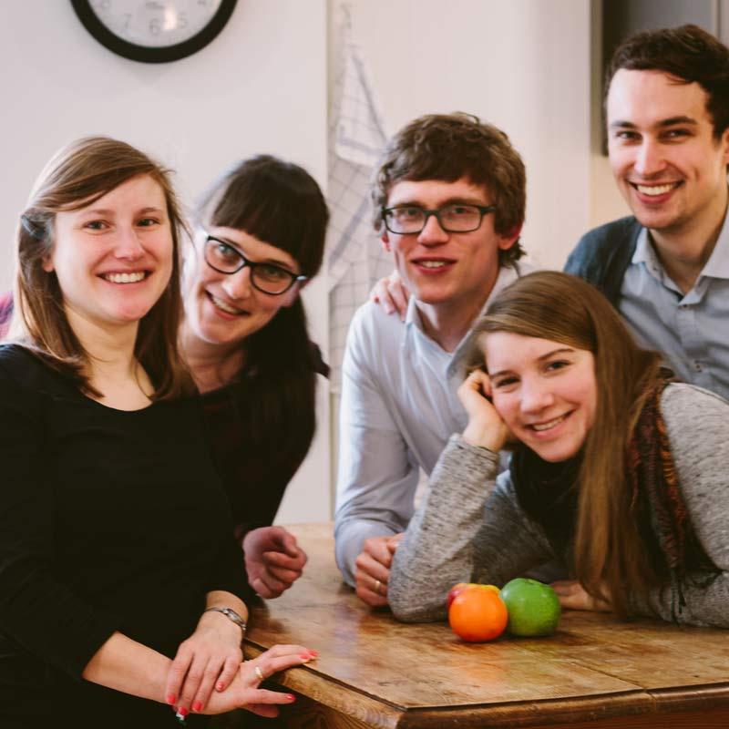 Fanny, Rafael, Paul, Marei und Lydia
